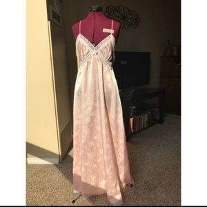 Christian Dior Pink Long Nightgown w/ Lace Trim S